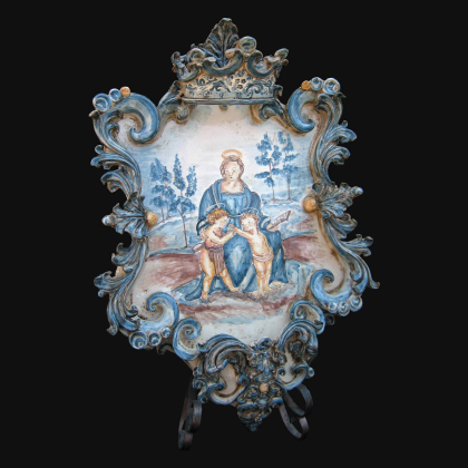 Lume Ornamentale in ceramica di Caltagirone Linea Bordeaux - Ceramiche artistiche Sofia