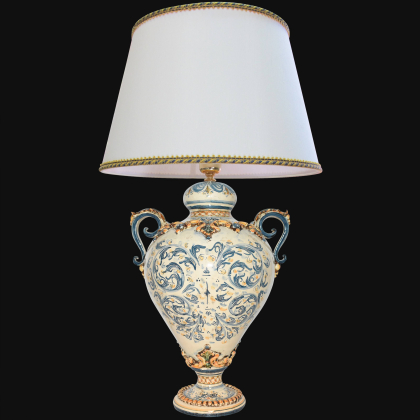 Acquasantiera in Ceramica artistica di Caltagirone