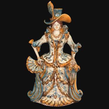 Ceramic clock handmade products. Artistic ceramics of Caltagirone
